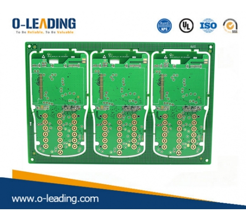 6L Rigid with 1.6mm board thickness,min line/width 3.5/4mil, Impedance control ,Surface finishing with Immersion Gold, Apply for industrial control