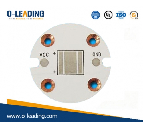 Aluminum base material, used for LED products, led pcb board manufacturer in China, counter sink holes, surface finished with OSP
