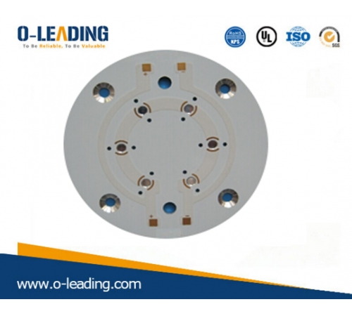 pcb manufacturer in china, led pcb board manufacturer in China, counter sink holes, Aluminum base material,used for LED products