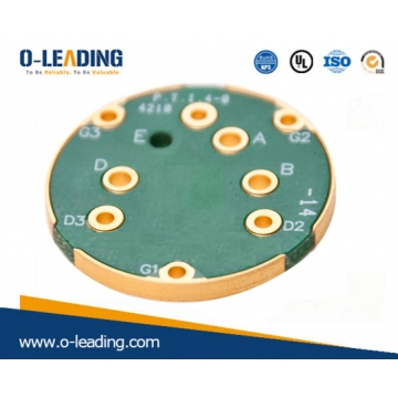 China Edge plaing board met goud, 3.0 board dikte, afgewerkt koper 2OZ, FR-4 basismateriaal, Printplaat in China, China pcb fabrikant fabriek