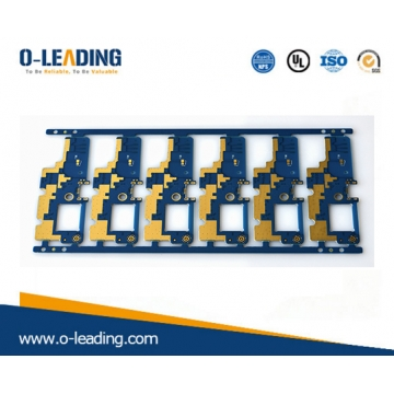 China double sided thin 0.5mm PCB with high quality from China, blue solder mask Electronic PCB factory